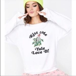 Wildfox white Yule love it sweater Christm…